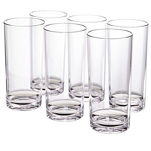 Classic 24-ounce Premium Quality Plastic Tumbler | set of 6 Clear (Drinkware)