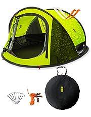 Zenph Pop Up Zelt, Automatisches Outdoor-Zelt für 2-3 Personen Schnellöffnungs Wurfzelt mit Tragetasche, Grüne