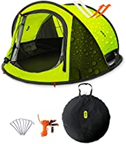 Camping Tent, Zenph 2-3 Persons Family Pop Up Tent, 3 Seconds Automatic Opening Waterproof Sun Shelter, Automa