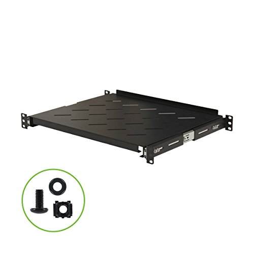 Navepoint Sliding Rack Vented Server Shelf 1U 19