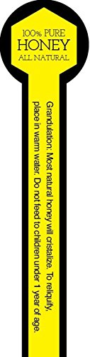 Farmstand Supply Tamper Proof Honey Labels (Roll of 500) (Yellow w/Text)
