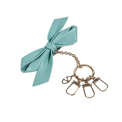 Valentino Woman Leather Blue Ribbon Key Ring by Valentino