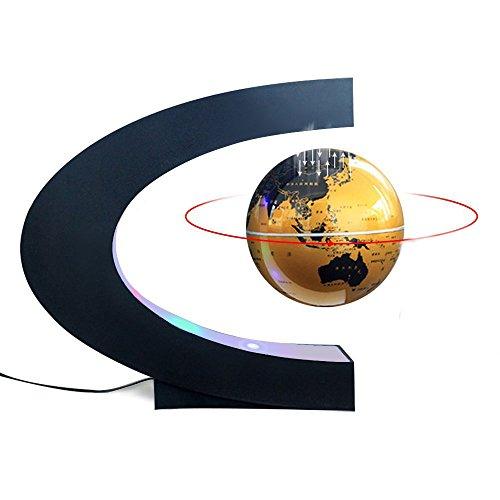 (Magnetic Levitation Floating World Map Globe C Shape Base, 3