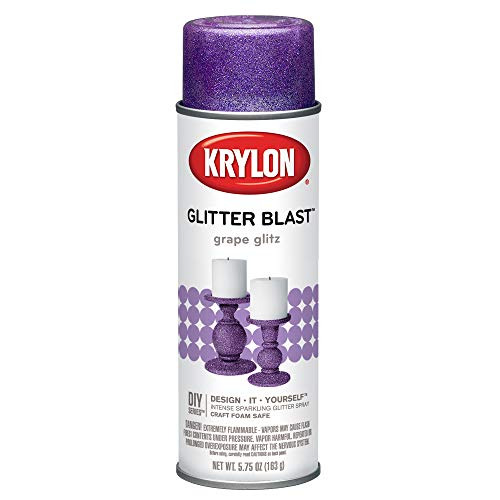 Krylon K03813A00 Glitter Blast, Grape Glitz, 5.75 Ounce