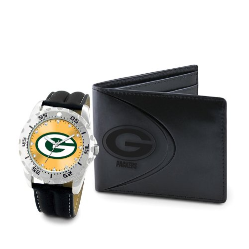 Game Time Watch and Wallet Gift Set - NFL (Green Bay Packers)