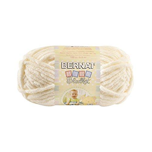 Bernat  Baby Blanket Yarn - (6) Super Bulky Gauge  - 3.5oz -  Vanilla  - Single Ball  Machine Wash & Dry (Vanilla Blanket Chenille)