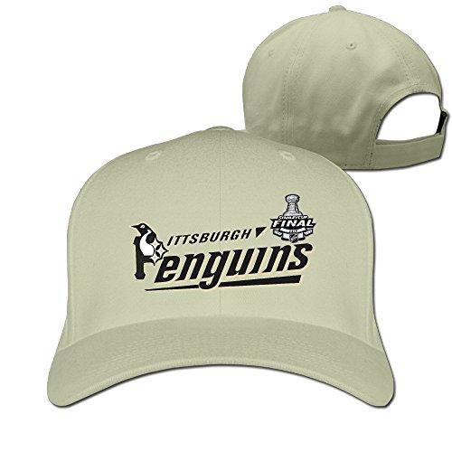 Adult Hockey Champions 2016 Penguins Adjustable Fitted Peak Cap Natural