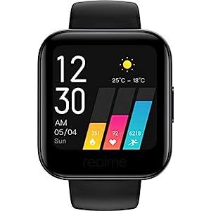 Realme Watch (Black Strap, Fashion)