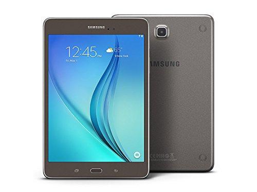 Samsung Galaxy Tab A SM-T350 8-Inch Tablet (16 GB, Titanium) W/ Pouch (Certified Refurbished)