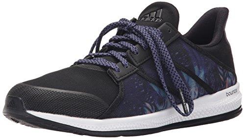 adidas Performance Women's Gymbreaker Bounce Training Shoe,Black/Night Metallic/Super Purple,10 M US