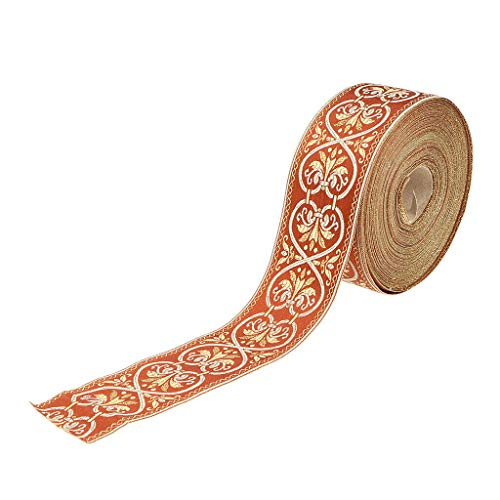 (25 Meters Embroidered Woven Border Ribbon Trim for Sewing Crafts Appliques | Color - C)