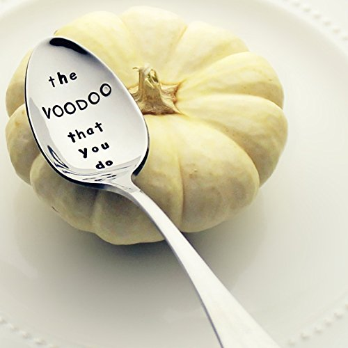 The Voodoo That You Do - Stainless Steel Stamped Spoon, Stamped Halloween Silverware