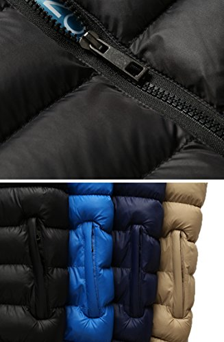 Windbreaker Mochoose Packable Outwear Sports Warm Padded Winter Khaki Coat Outdoor Waterproof Collar Cotton Zipper Stand Jacket Thick Men's WWafOnxPZ
