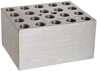 Benchmark Scientific BSW10 Aluminum Dry Bath Heating Block for Digital Dry Bath Incubator, 20  x 10mm Test Tubes Or 20 x 2.0mL Centrifuge Tubes Capacity