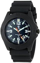 Smith & Wesson Men's SWW-12T-N Soldier Tritium H3 Black Rubber Strap Watch