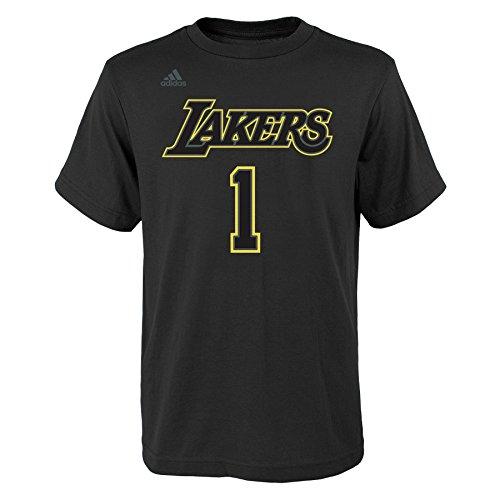 ngeles Lakers Boys Youth Hyper Name and Number Short Sleeve Tee, Medium (10-12), Black ()