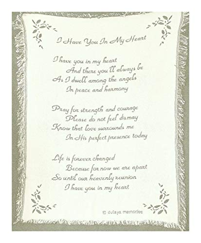 (Sympathy Blanket Tapestry Throw Memorial Gift with Exclusive Poem and Card)