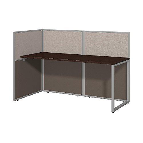 Bush Business Furniture Easy Office 60W Straight Desk Open Office in Mocha Cherry ()