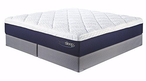 Ashley Furniture Signature Design   Sierra Sleep   Memory Foam Gel Mattress   13 In Thick   King Size   White