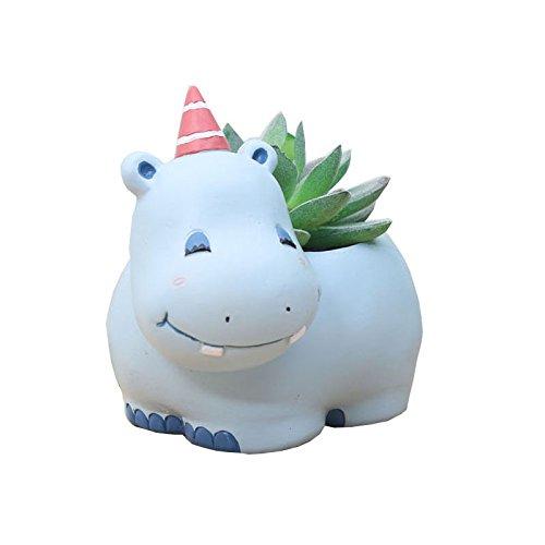 Love Hippos (Cuteforyou Cute Animal Shaped Cartoon Home Decoration Succulent Vase Flower Pots)