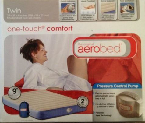 THE ORIGINAL AIROBED ONE TOUCH COMFORT TWIN AIR MATTRESS, INFLATABLE AIR MATTRESS WITH PUMP AND STORAGE BAG, Outdoor Stuffs