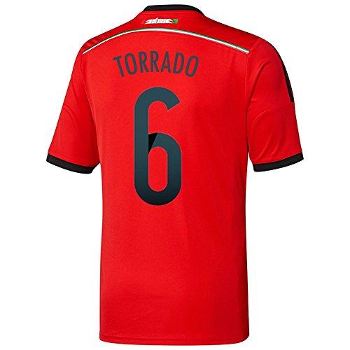 ナラーバーぴかぴかトラフAdidas TORRADO #6 Mexico Away Jersey World Cup 2014/サッカーユニフォーム メキシコ アウェイ用 ワールドカップ2014 背番号6 トラード