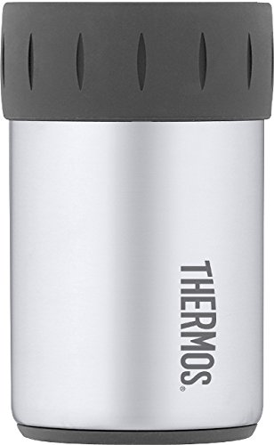 (Thermos Stainless Steel Beverage Can Insulator for 12 Ounce Can, Stainless Steel)
