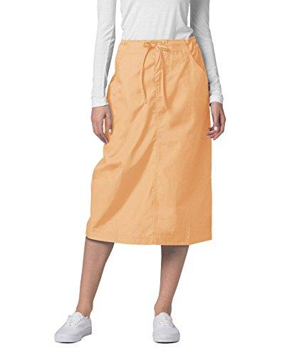 Adar Universal Mid-Calf Length Drawstring Skirt (Available is 17 Colors) - 707 - Peach - Size 6 (Peaches Length Uniform Uniforms Mid)