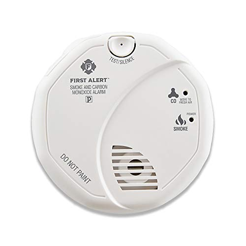 First Alert Powered Alarm SCO5CN Combination Smoke and Carbon Monoxide Detector, Battery Operated, 1 Pack
