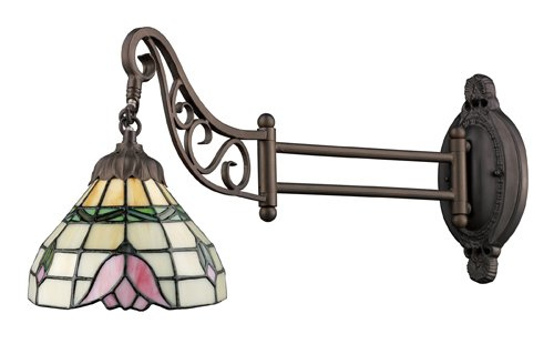 Elk 079-Tb-09 Tulip Mix-N-Match 1-Light Swing Arm Sconce, 12-Inch, Tiffany Bronze