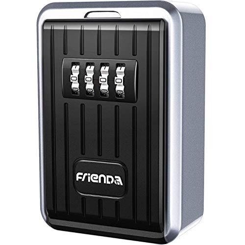 Caja de Almacenamiento de Llaves Montaje en Pared Caja de Seguridad de Llaves, Combinación de 4 Dígitos, Frienda Armarios...