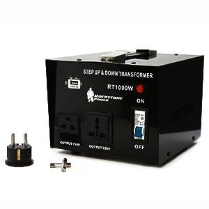 Rockstone Power 1000 Watt Heavy Duty Step Up/Down Voltage Transformer Converter - Step Up/Down 110/120/220/240 Volt - 5V USB Port - CE Certified [3-Year Warranty]