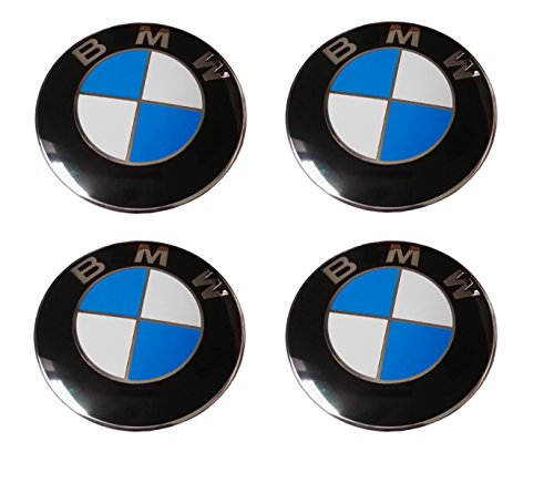 LHFACC Wheel Center Hub Cap Cover Emblem Badge Sets of 4 for E36 E38 E39 E46 E53 E60 E61 E63 E64 E65 E66 E70 E71 E72 E82 E83 E85 E86 ()