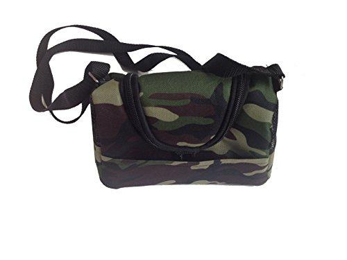 (Camouflag Printed Shoulder Bag Travel Comfort Carrier for Small Pet Sugar Glider Hamster Bird)