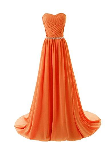 Da In Arancione Rilievo Da Sposa Pavimento Abito Del Di Damigella Elegante Sera Del Amore Lunghezza D'onore Vestito qAE6TxwT