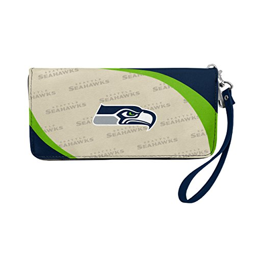 NFL Seattle Seahawks Curve Zip Organizer Wallet