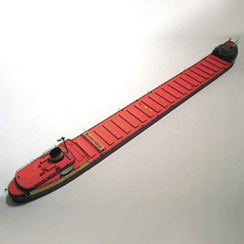 ELVVT 1:400米国エドモンド・フィッツジェラルド鉱石輸送船のモデル手作りの高難易度の軍事ファン子供大人用DIYペーパーアート模型玩具誕生日の装飾のギフト