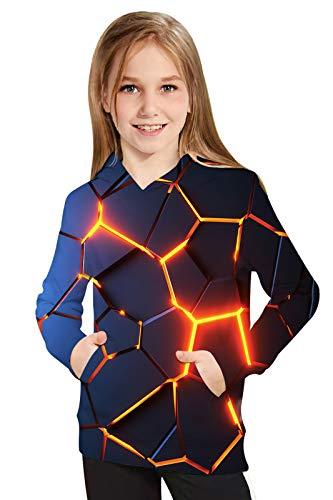 UNICOMIDEA Kids Hoodies Pullover 3D Sweatshirt Jumpers Blouse Tops for Boys Girls 6-16 Years Old