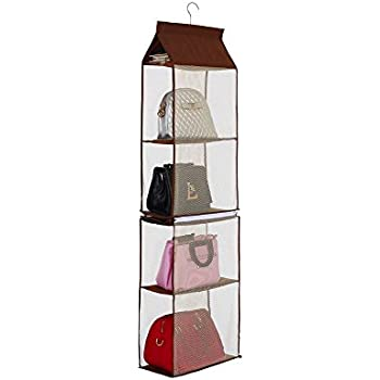 6 Pocket Handbag Anti Dust Cover Clear Hanging Closet Bags Organizer Purse  Holder Collection Shoes