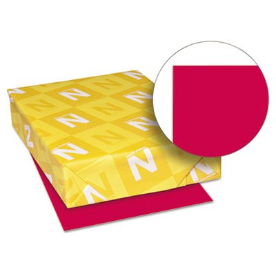 Astrobrights Colored Paper, 24lb, 8-1/2 x 11, Re-Entry Red, 500 Sheets/Ream, Sold as 1 Ream, 500 per Ream