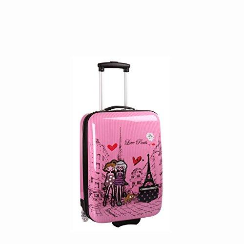 Madisson Valigia rigida cabina Kids 2 ruote, 50 cm, rosa (Rosato) - F55018 LOVE PARIS