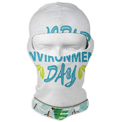 Balaclava Happy World Environment Day Full Face Masks UV Protection Ski Hat Headwear Motorcycle Hood for Cycling Hiking Women Men