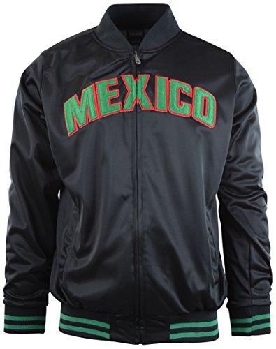 Mexico Track Jacket (ChoiceApparel® Men's Mexico Track Jacket (XL, 6070-BLACK/BLACK))