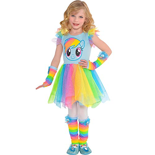 Suit Yourself My Little Pony Rainbow Dash Tutu Dress for Children, One Size up to Size 6, Features Flutter Sleeves