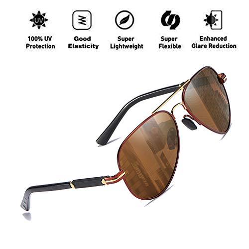 de C5 Hombres Driving Aviator Protección Style UV400 Light ATNKE sol para Ultra Classic Retro Gafas Mujeres Polarized 8xa5tXwS