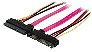 Valueline VLCP73125V05 0.50m SATA 7 Pin and 15 Pin Male to SATA 7 Pin + 15 Pin Female SATA 22 Pin Extension Cable - Multicolour by Valueline