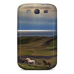 Galaxy S3 CtSSSzg1163dWOPT Horses On The Beach By Sunset Tpu Silicone Gel Case Cover. Fits Galaxy S3