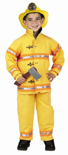 Get Real Gear Yellow Jr. Firefighter Suit with Helmet, Size 4/6