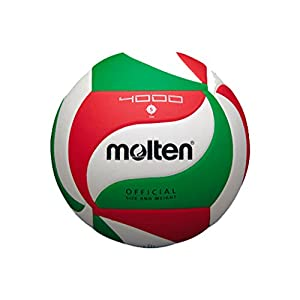 Molten - V5M4000, Pallone da pallavolo, colore: Bianco/Verde/Rosso 41nrzVT9HgL. SS300