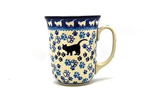 (Polish Pottery Mug - 16 oz. Bistro - Boo Boo Kitty)